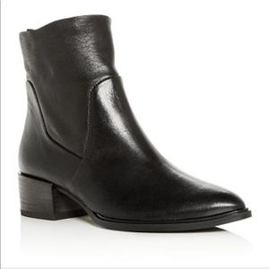 Paul Green Trey Leather Block Heel Ankle Booties